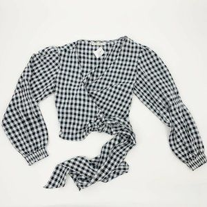 NWT LF Here Comes the Sun Navy White Gingham Check
